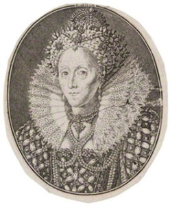 NPG D42191; Queen Elizabeth I by Simon de Passe, after  Isaac Oliver