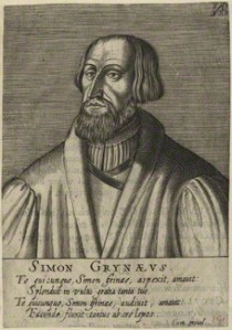 NPG D24782; Simon Grynaeus after Unknown artist