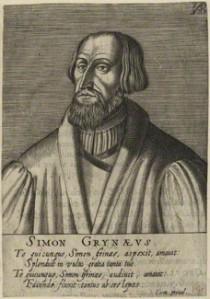 NPG D24782; Simon Grynaeus after Unknown artist