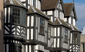 Shrewsbury timber framed building Shropshire UK Great Britain