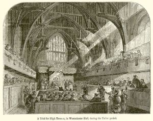 A Trial for High Treason, in Westminster Hall, during the Tudor period
